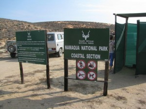 Entrance to the Namaqua National Park
